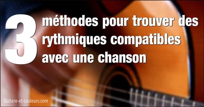 3 méthodes pour trouver des rythmiques compatibles avec une chanson