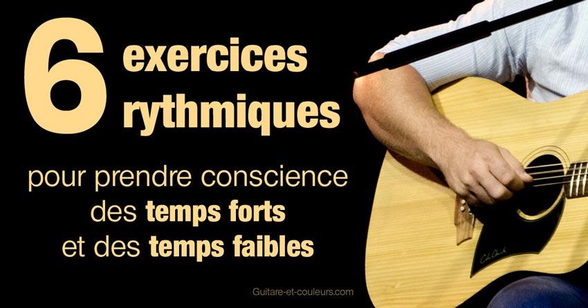 6 exercices rythmiques pour prendre conscience des temps forts et des temps faibles