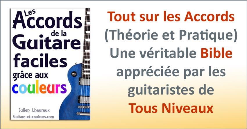 Les accords de la guitare faciles grâce aux couleurs