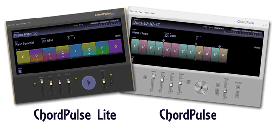 Les deux versions de ChordPulse