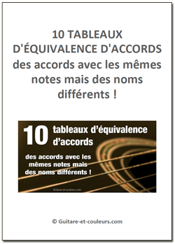 10 tableaux d'équivalence d'accords
