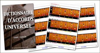 Dictionnaire d'accords de guitare universel (édition light PDF)