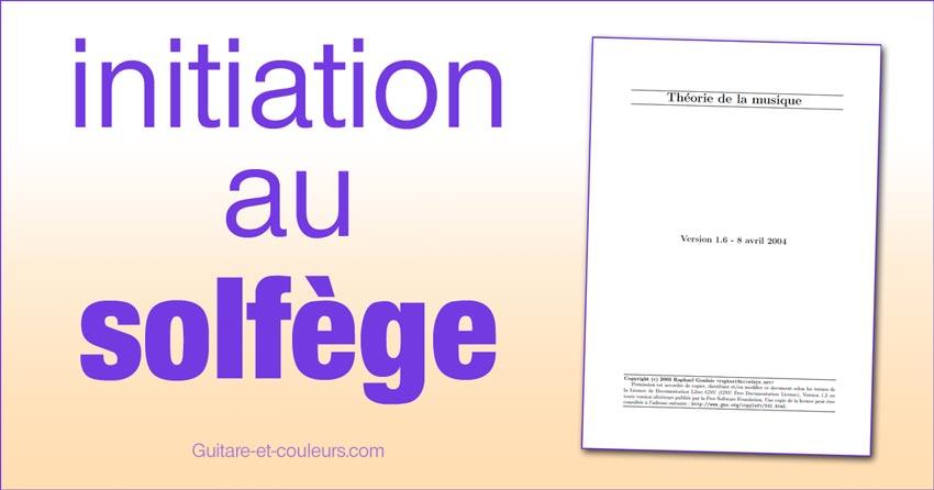 Ebook d'initiation au solfège