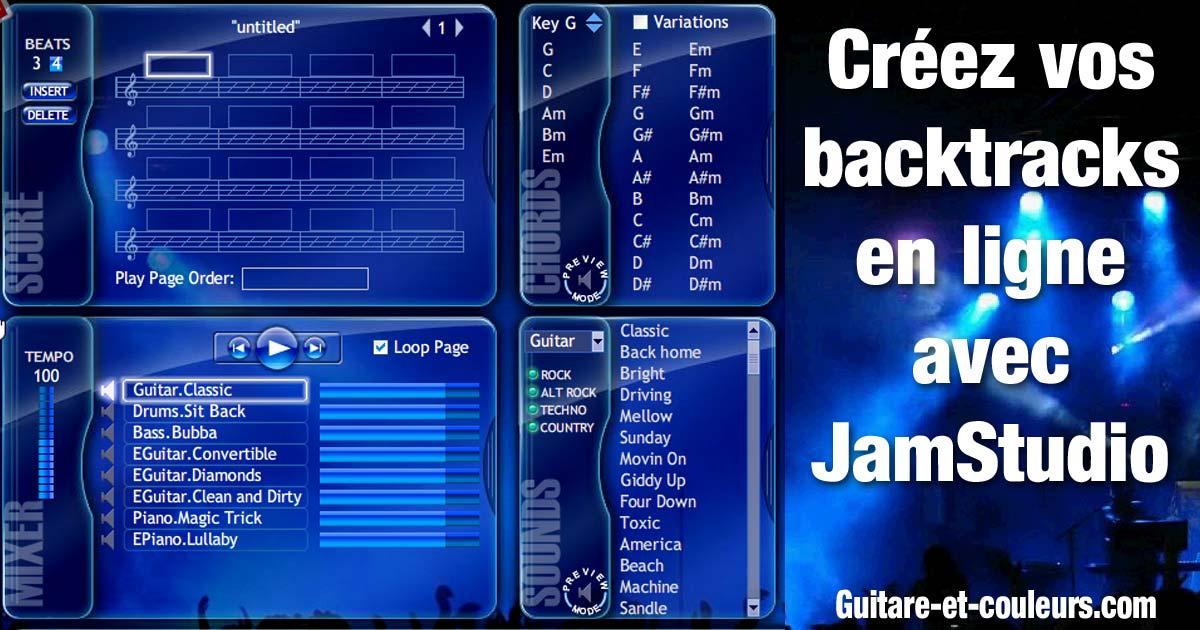 Créez vos accompagnements (backtracks) en ligne avec JamStudio