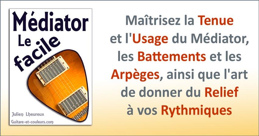 Jouez facilement du médiator à la guitare
