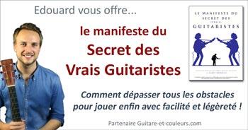 Édouard vous offre le manifeste du Secret des Vrais Guitaristes