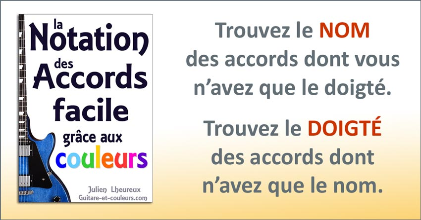 La notation des accords facile
