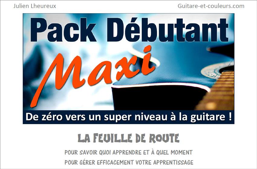 Feuille de route (plan de travail) du Pack Guitare Débutant MAXI