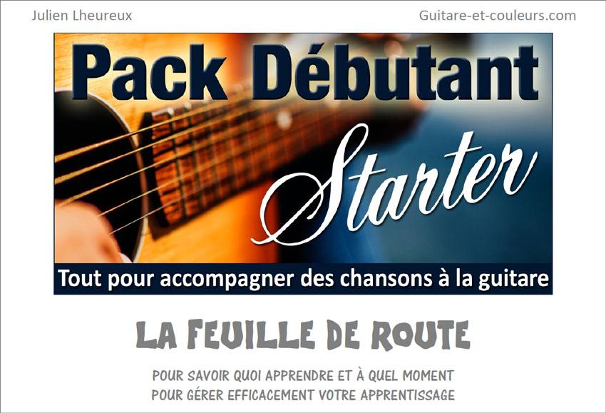 Feuille de route (plan de travail) du Pack Guitare Débutant STARTER