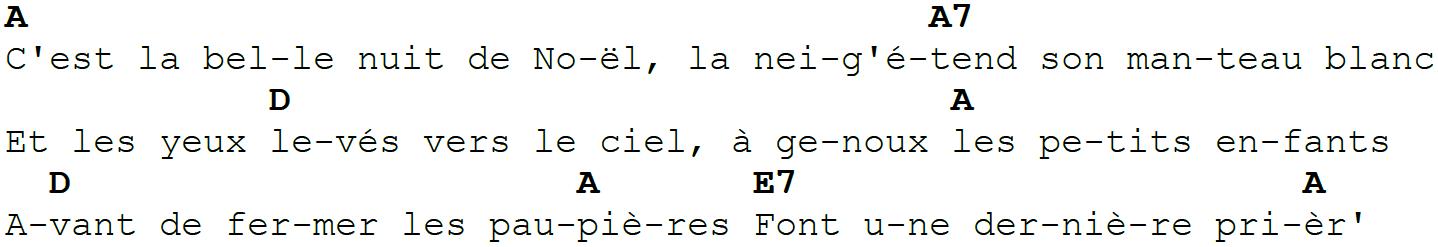 Petit Papa Noel - Paroles + Accords - Couplet A
