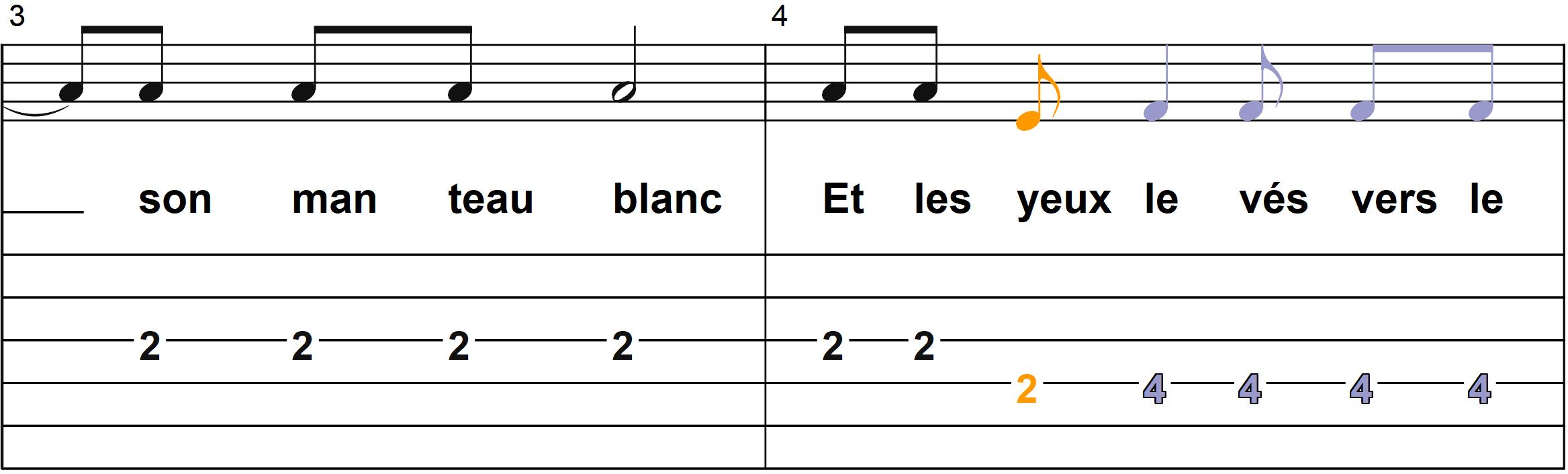 Petit Papa Noel - Mélodie du couplet A - Page 2