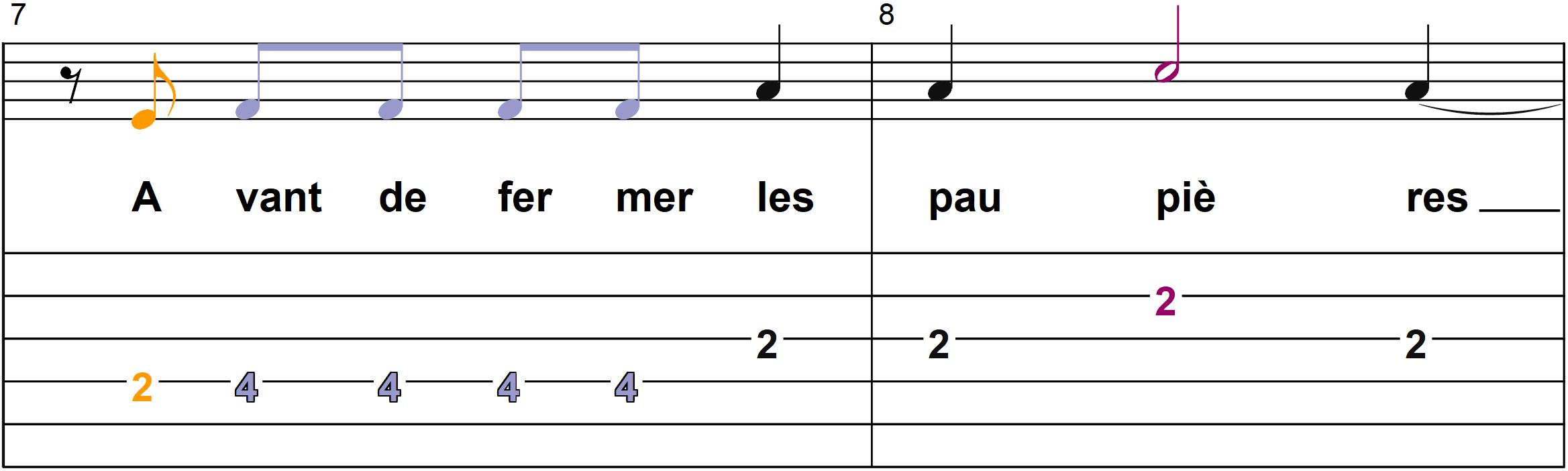 Petit Papa Noel - Mélodie du couplet A - Page 4