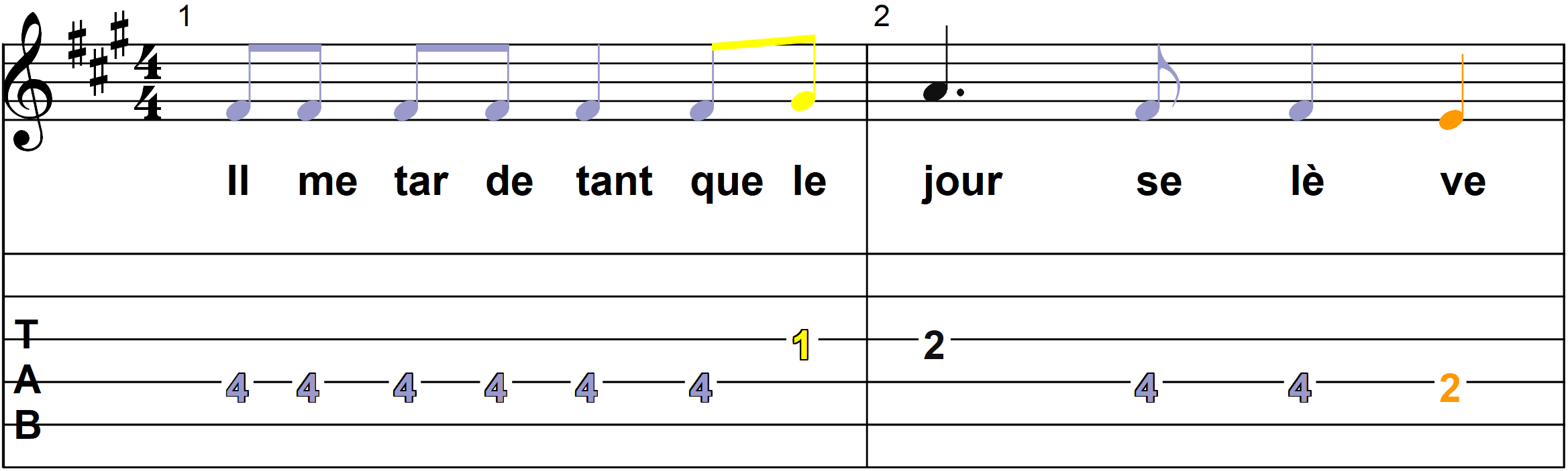 Petit Papa Noel - Mélodie du couplet B - Page 1