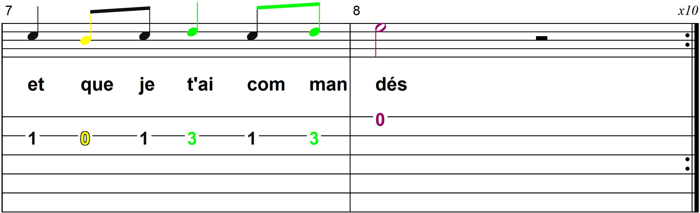 Petit Papa Noel - Mélodie du couplet B - Page 4