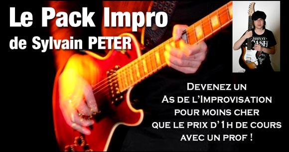 Le pack impro guitare de Sylvain Peter