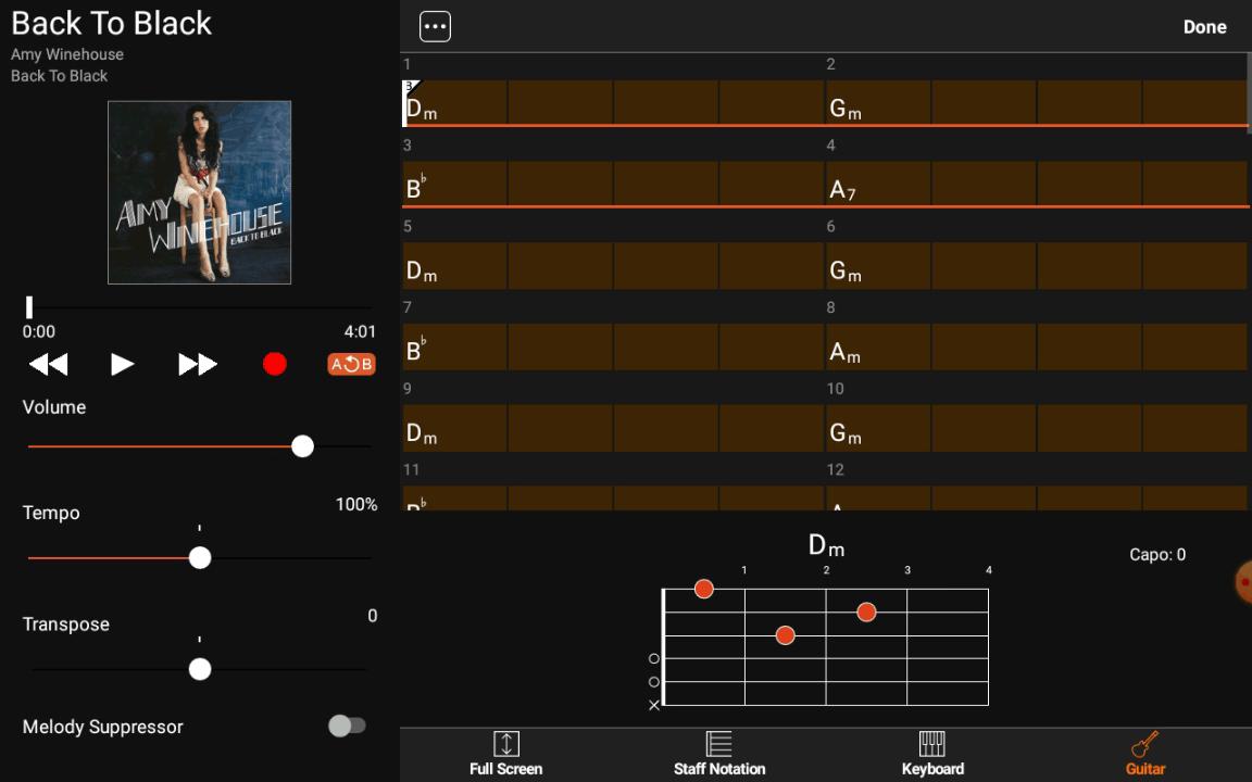 Yamaha Chord Tracker - Activer la lecture en boucle étape 3