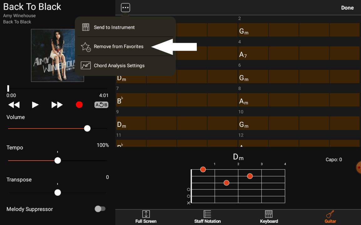 Yamaha Chord Tracker - Ajouter aux favoris