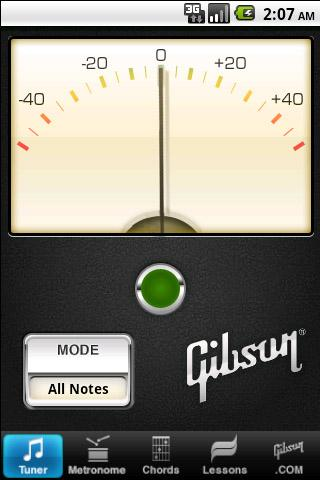 Accordeur Gibson pour iPhone, iPad et Androïd