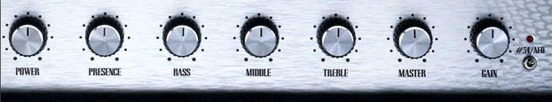 guitare ampli réglages boutons