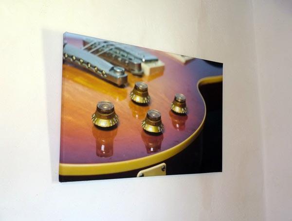 Impression de photos de guitares vintage sur toile coton