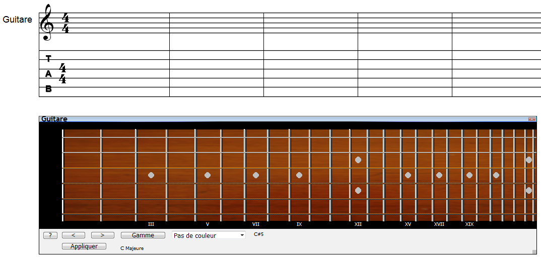 Correspondance Portée - Manche : la visualiser facilement et en couleur avec Harmony Assistant 3