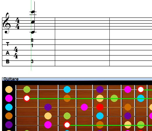 Correspondance Portée - Manche : la visualiser facilement et en couleur avec Harmony Assistant 8