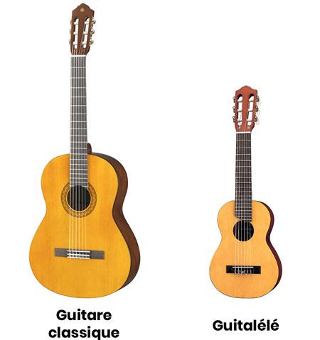 Comparaison guitare classique et guitalélé