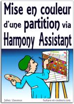 Mise en couleur d'une partition via Harmony Assistant