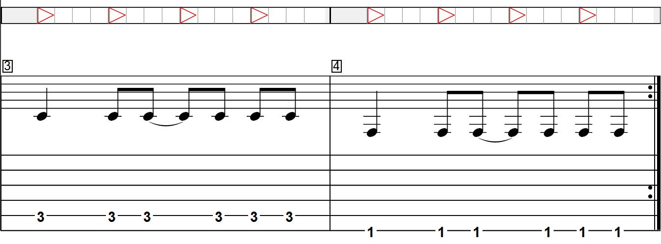 Les bases indispensables pour comprendre les RYTHMIQUES à la guitare - Exemple avec une suite de notes (2/2)