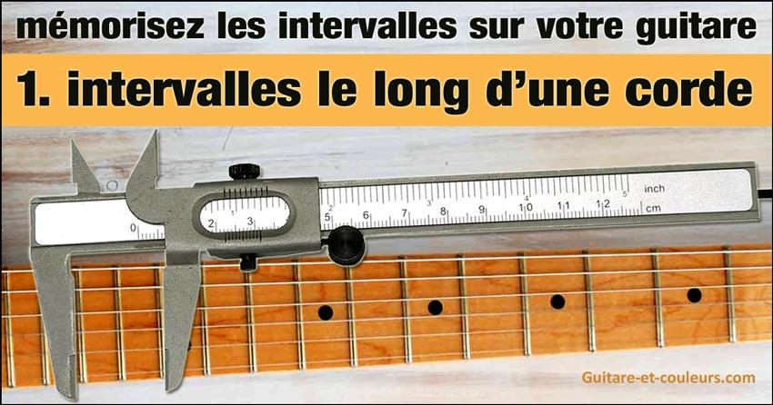 mémorisez les intervalles sur votre guitare - 1. intervalles le long d'une corde